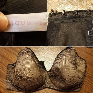 Lane Bryant Cacique 44F Black Bra